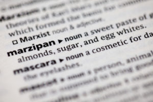 Dictionary Definition of Marzipan