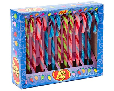 Jelly Belly Candy Canes: Watermelon, Tutti Fruitti and Blueberry