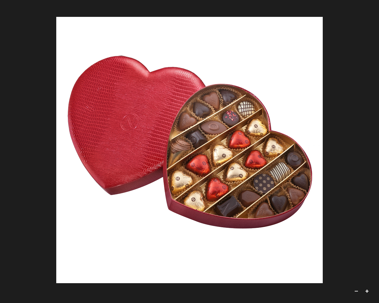 Belgian Neuhaus Chocolates Heart Box