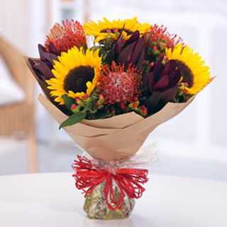 Safari Sunset Hand-Tied Arrangement
