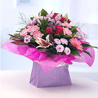 Pink Sanna Hand-tied Bouquet