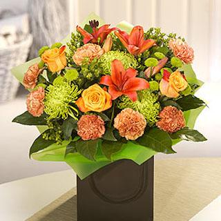 Amber Flower Arrangement