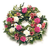 Traditional Round Funeral Wreath