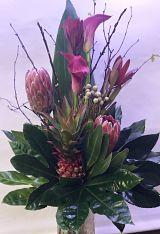 Protea and Ananas Tropical Display