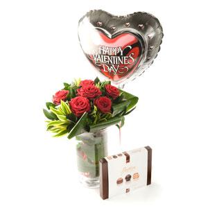 Valentine 6 Red Rose Gift set