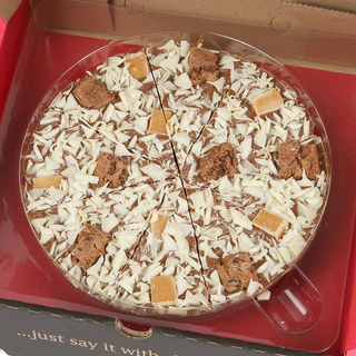 "Crunchy Munchy Chocolate 7"" Pizza"