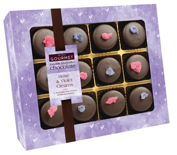 Bon Bon's Gourmet Chocolate Rose & Violet Creams