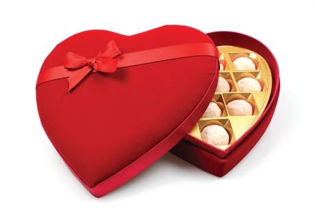 Bon Bon's Strawberry & Champagne Truffles Velvet Heart Box