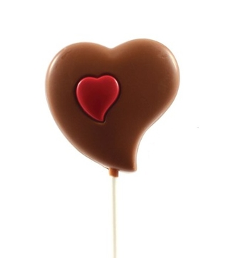 Belgian Chocolate Lollipop Heart