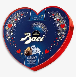 Perugina Baci Dark Chocolate Heart Box