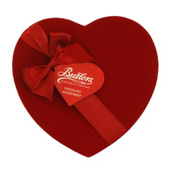 Butler's Chocolate  Velvet Heart Box Various Sizes