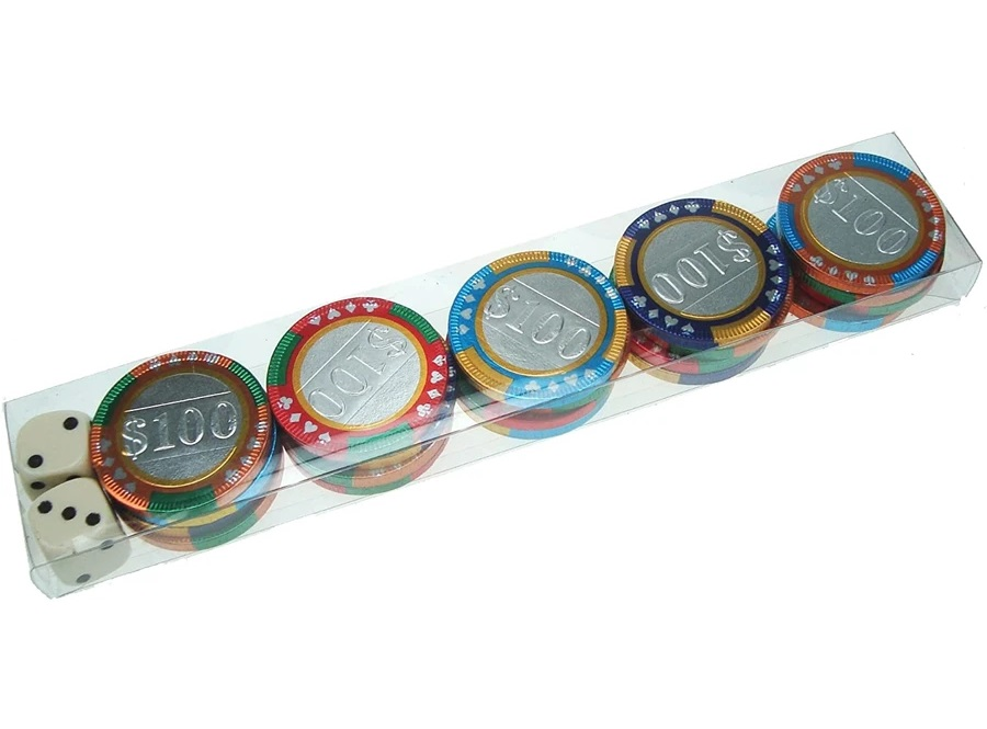 Chocolate Casino Chips With Dice