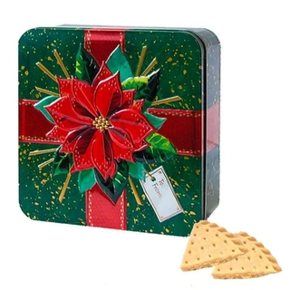 Churchill's Poinsettia Petticoat Tail Tin