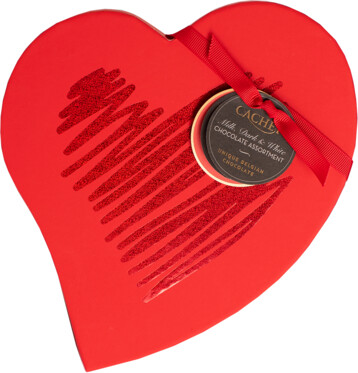 Cachet Belgian Chocolates Red Heart Gift Box