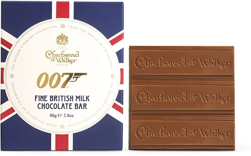 Charbonnel et Walker 007 Milk Chocolate Bar