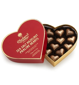 Charbonnel et Walker Milk Sea Salt Hazelnut Praline Hearts