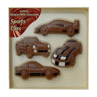 Sports Cars Shaped in Milk Chocolate