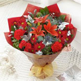 Christmas Cracker Hand-tied Arrangement