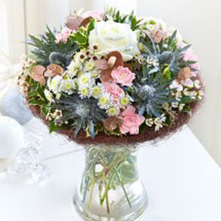Cool Winter Gift-Wrapped Bouquet