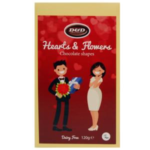 D&D Dairy Free Hearts & Flowers Chocolate Shapes