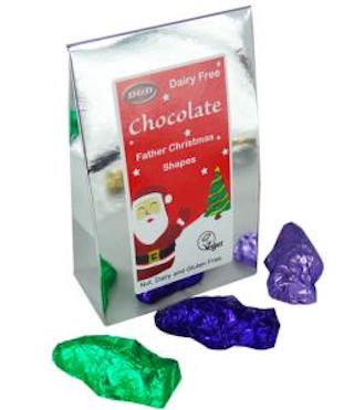 D&D Dairy Free Father Christmas Shapes