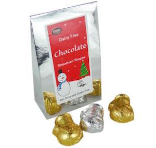 D&D Dairy Free Chocolate Snowman Shapes