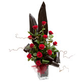 Daring Dozen Roses Arrangement