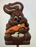 Carrot Crunching Bunny Lollipop