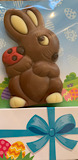 Chocolate Bunny with Ladybird