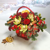Essence of Christmas Basket Arrangement