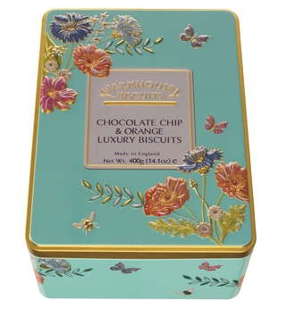 Farmhouse Chocolate Chip & Orange Luxury Biscuits Tin