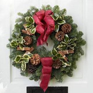 Festive Wreath in Christmas Greens