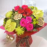 Festive Zing Hand-Tied Bouquet