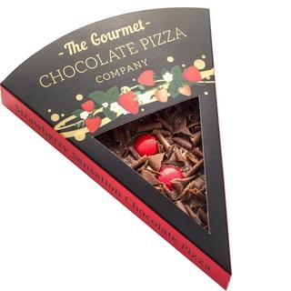 Strawberry Sensation Chocolate Pizza Slice