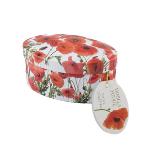 Gardiners Poppy Flowers Vanilla Fudge Tin