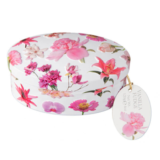 Gardiners Pink Flowers Vanilla Fudge Tin