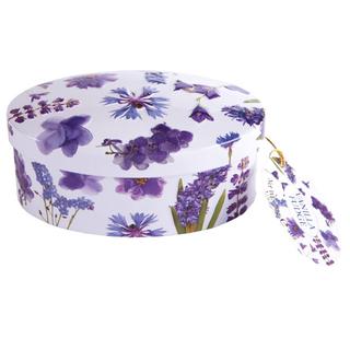Gardiners Purple Flowers Vanilla Fudge Tin
