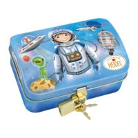 Heidel Astronaut Treasure Chest With Milk Chocolate Novelties