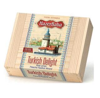 Hazer Baba Genuine Turkish Delight Small Wooden Box