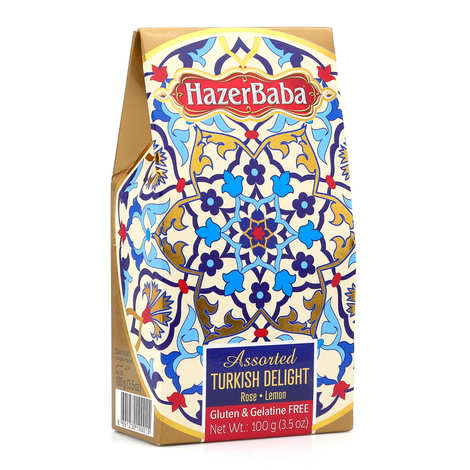 Hazer Baba Rose & Lemon Turkish Delight 100g