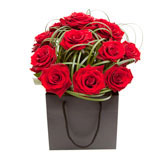 Hot Valentine's Red Roses Display