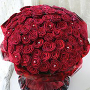 True Romantics Red Rose Arrangement