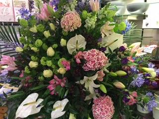 Pastel Floral Arrangement Display