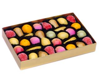 Marzipan Fruits in Gold Box
