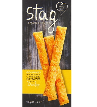 Stag Bakeries Cheese Straws with Dunlop