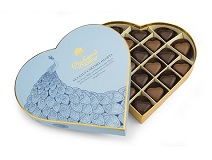 Charbonnel et Walker Blue Heart of Hearts Dark and Milk Sea Salt Caramel Truffles