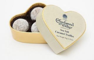 Charbonnel et Walker Mini Cream Heart Milk Sea Salt Caramel Truffles