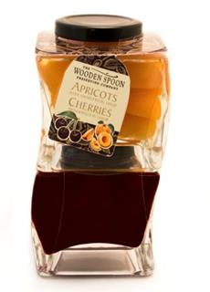 The Wooden Spoon  Stackable Duo- Apricots & Amaretto, Cherries