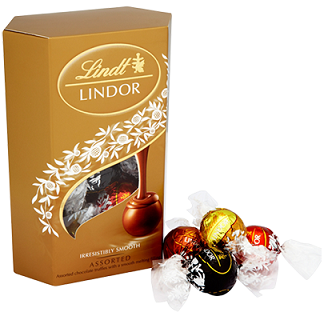 Lindt Lindor Chocolate Assorted Box 337g