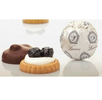Laurence Galerie De Chocolat Cherry Cheesecake Biscuits in Chocolate